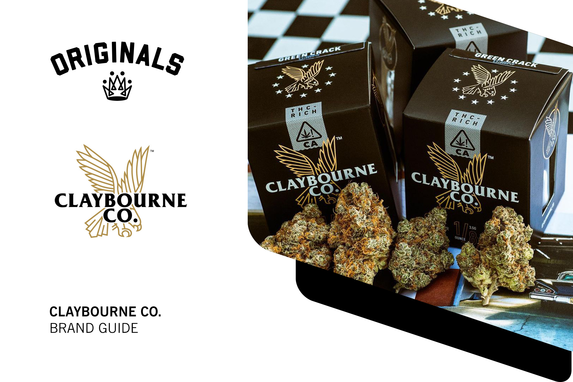 Claybourne Co Brand Guide: High-Octane Cannabis Products At Originals